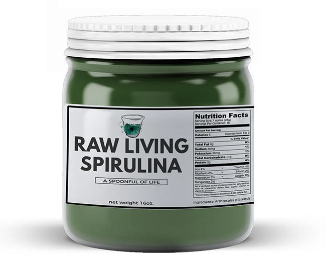 Raw Living Spirulina - Buy Now